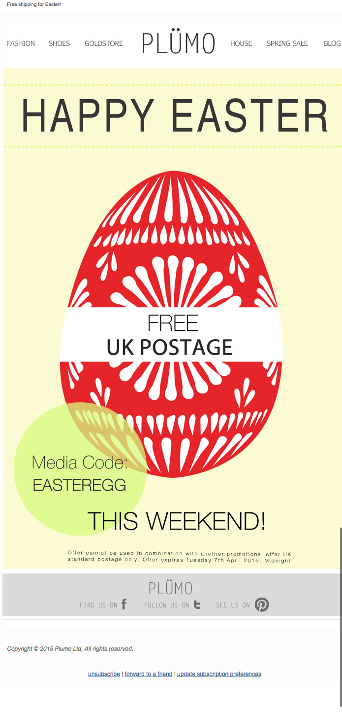 Easter email inspiration email design review cowshed subject line for her for him for home easter gifts for all date march 17th negle Gallery