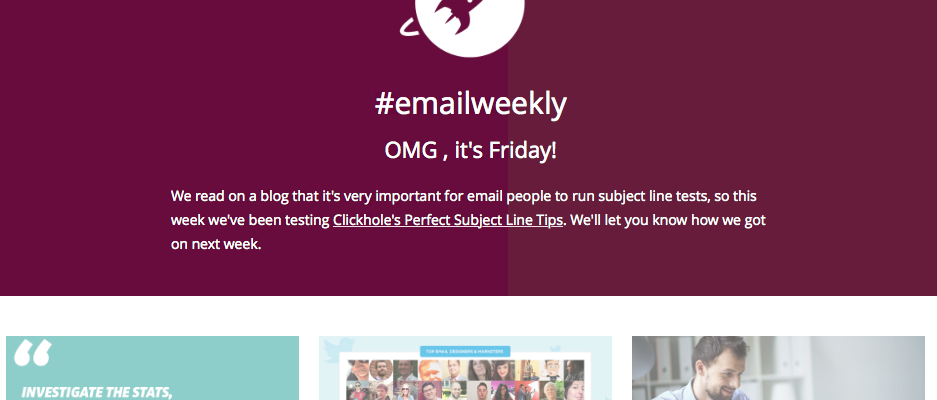 What we've learnt from randomly testing #EmailWeekly